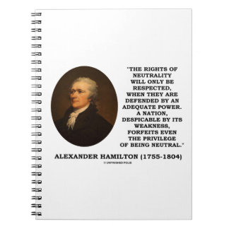 Alexander Hamilton Rights Of Neutrality Power Note Book