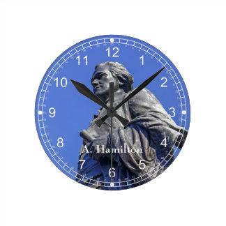 Alexander Hamilton Round Clock