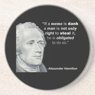 Alexander Hamilton's Dank Meme - Sandstone Coaster