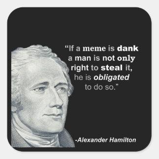Alexander Hamilton's Dank Meme - Sticker