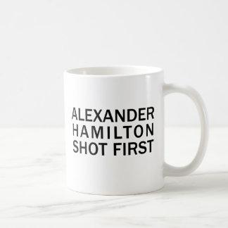 Alexander Hamilton Shot First - White T-Shirt, Etc Coffee Mug