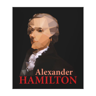 Alexander Hamilton, Triangulated Canvas Print