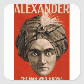 Alexander Knows Square Sticker