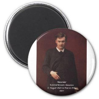 Alexander Konstamtinovich Glazunov 1887 Magnet