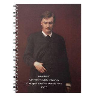 Alexander Konstamtinovich Glazunov 1887 Notebook