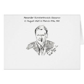 Alexander Konstamtinovich Glazunov 1918 Card