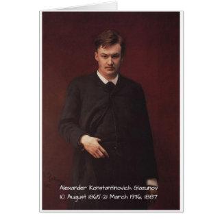 Alexander Konstamtinovich Glazunov c1913 Card