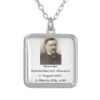 Alexander Konstamtinovich Glazunov c1913 Silver Plated Necklace