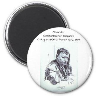Alexander Konstantinovich Glazunov 1899 Magnet
