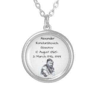 Alexander Konstantinovich Glazunov 1899 Silver Plated Necklace