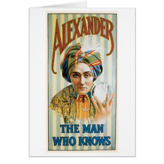 Alexander ~ Mentalist Physic Vintage Magic Act Card