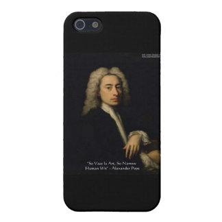 """Alexander Pope """"Art Vs Wit"""" Wisdom Quote Gifts iPhone 5/5S Case"""