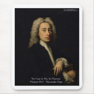 "Alexander Pope ""Art Vs Wit"" Wisdom Quote Gifts Mouse Pad"