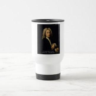 "Alexander Pope ""Art Vs Wit"" Wisdom Quote Gifts Travel Mug"
