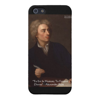 """Alexander Pope """"To Err Human"""" Wisdom Quote Gifts Case For The iPhone 5"""