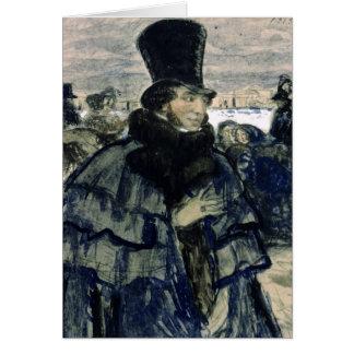 Alexander Pushkin  on the Neva Embankment Card