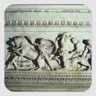 Alexander Sarcophagus Square Sticker