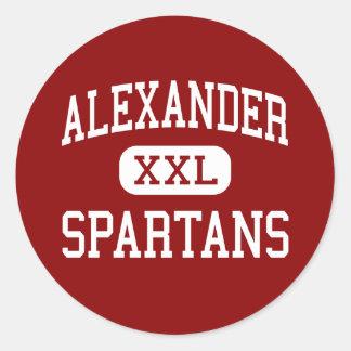 Alexander - Spartans - High School - Albany Ohio Classic Round Sticker