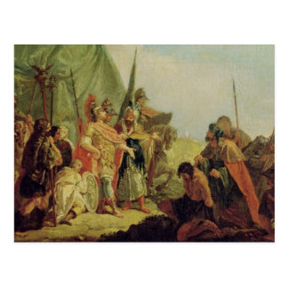 Alexander the Great  and Porus Postcard