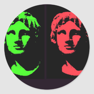 Alexander the Great Collage Classic Round Sticker