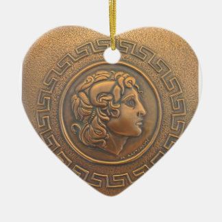 ALEXANDER THE GREAT COPPER WALL ART CERAMIC ORNAMENT