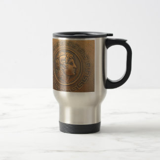 ALEXANDER THE GREAT COPPER WALL ART TRAVEL MUG