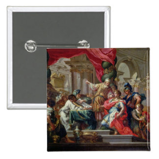 Alexander the Great in the Temple of Jerusalem 15 Cm Square Badge