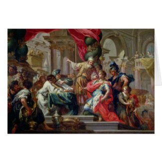 Alexander the Great in the Temple of Jerusalem Greeting Card