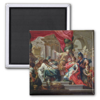 Alexander the Great in the Temple of Jerusalem Square Magnet