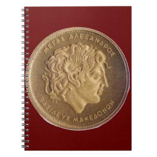 Alexander the Great, king of Macedonians Spiral Notebook