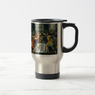 Alexander the Great Threatened by His Father Travel Mug