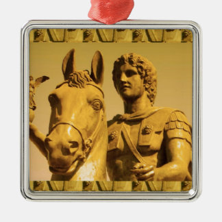 ALEXANDER the Great :  Vintage Alexanderia Silver-Colored Square Decoration