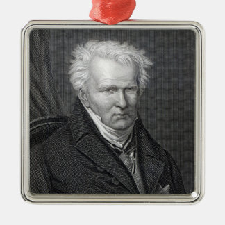 Alexander von Humboldt, engraved by C. Cook Metal Ornament