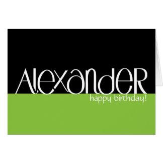 Alexander white Birthday Card
