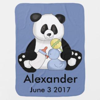 Alexander's Personalized Panda Baby Blanket