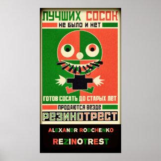 Alexandr Rodchenko Rezinotrest Poster