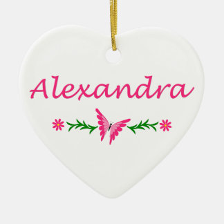 Alexandra names christmas tree decorations baubles for Alexandra decoration