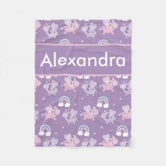 Alexandra's Personalized Unicorn Blanket