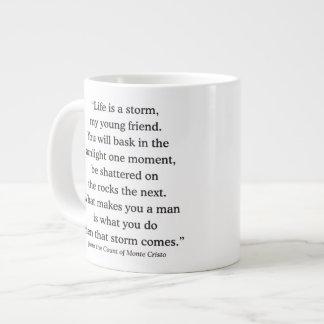 Alexandre Dumas Wisdom on Life Giant Coffee Mug