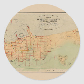 Alexandria Egypt 1866 Classic Round Sticker