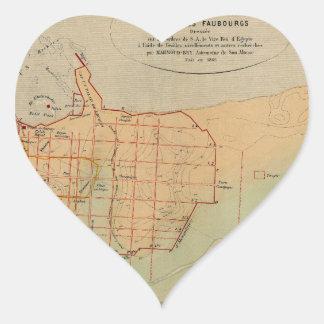 Alexandria Egypt 1866 Heart Sticker