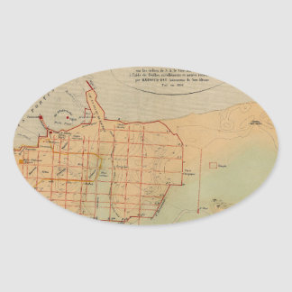 Alexandria Egypt 1866 Oval Sticker