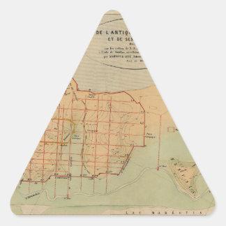 Alexandria Egypt 1866 Triangle Sticker