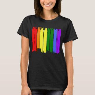 Alexandria Louisiana Gay Pride Rainbow Skyline T-Shirt