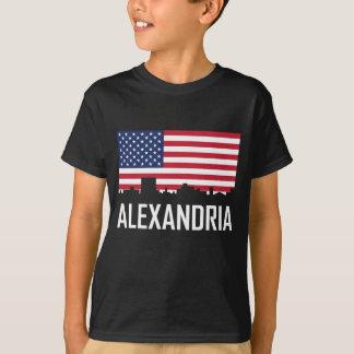 Alexandria Louisiana Skyline American Flag T-Shirt