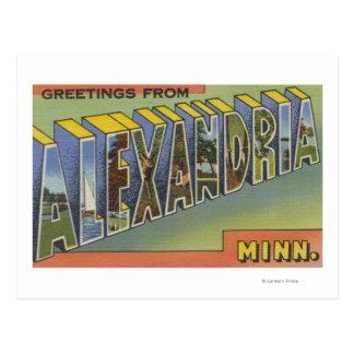 Alexandria, Minnesota - Large Letter Scenes Postcard