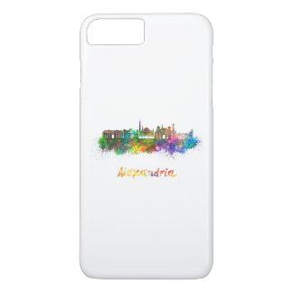 Alexandria skyline in watercolor iPhone 8 plus/7 plus case