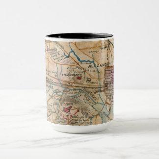 Alexandria, VA Antique Map Mug