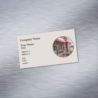 Alexandria VA - Red Awnings on King Street Magnetic Business Cards