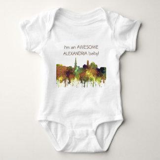 Alexandria, Viirginia Skyline - SG - Safari Buff Baby Bodysuit